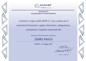 Attestato Zadro